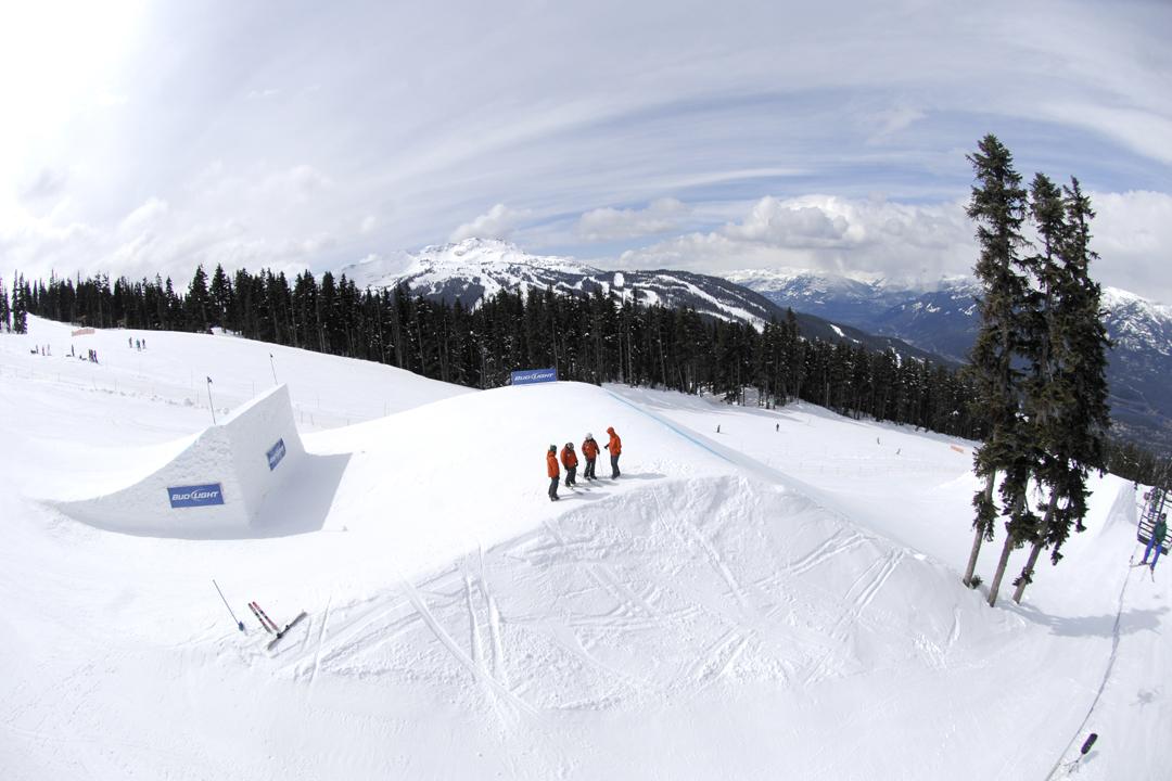 Feature #5 jump. Photo: Hank Lampert