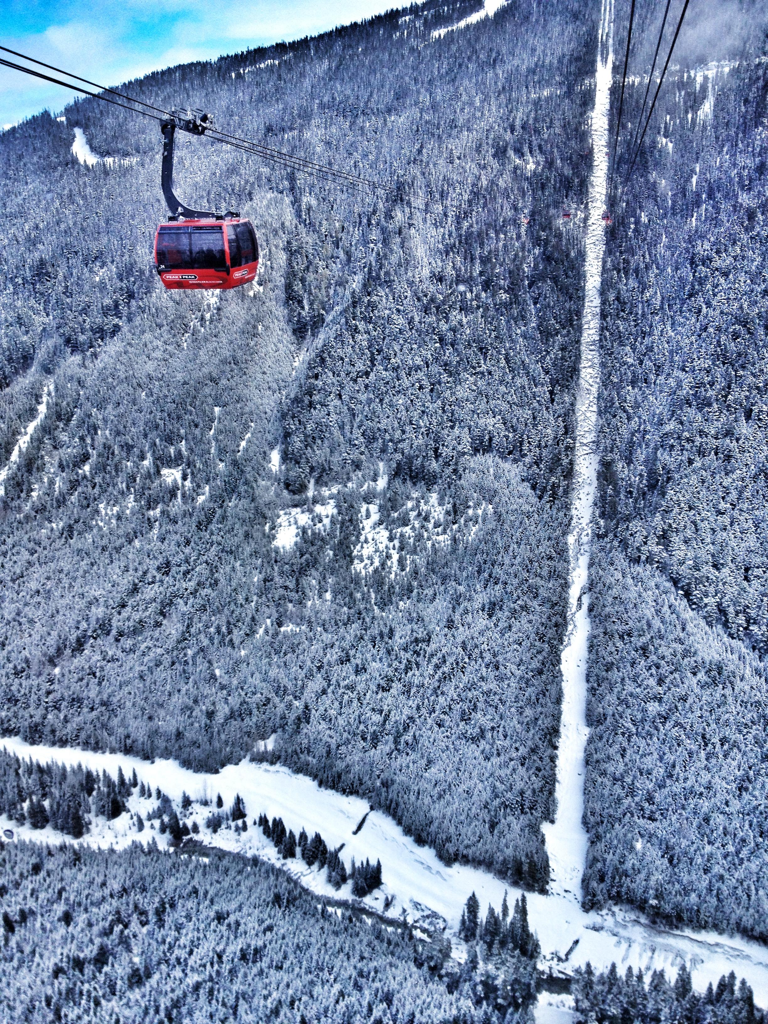 Taking a fun ride on the Peak 2 Peak Gondola
