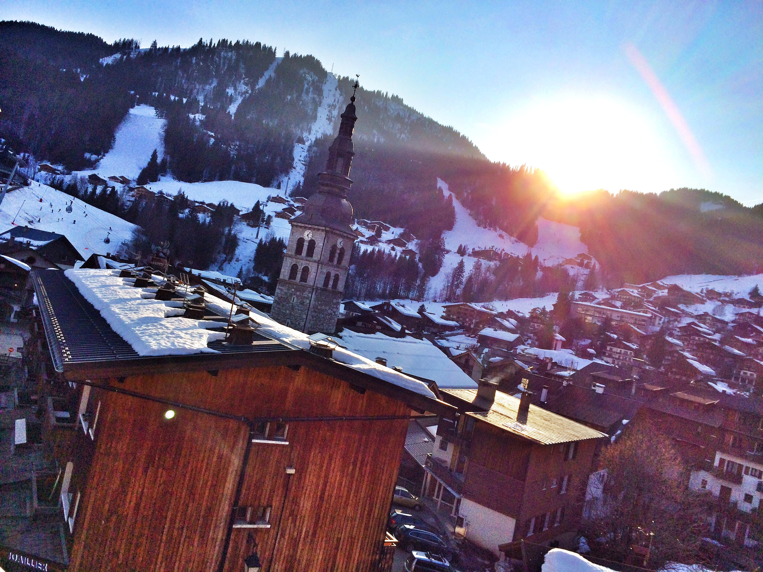 View from the hotel in La Clusaz