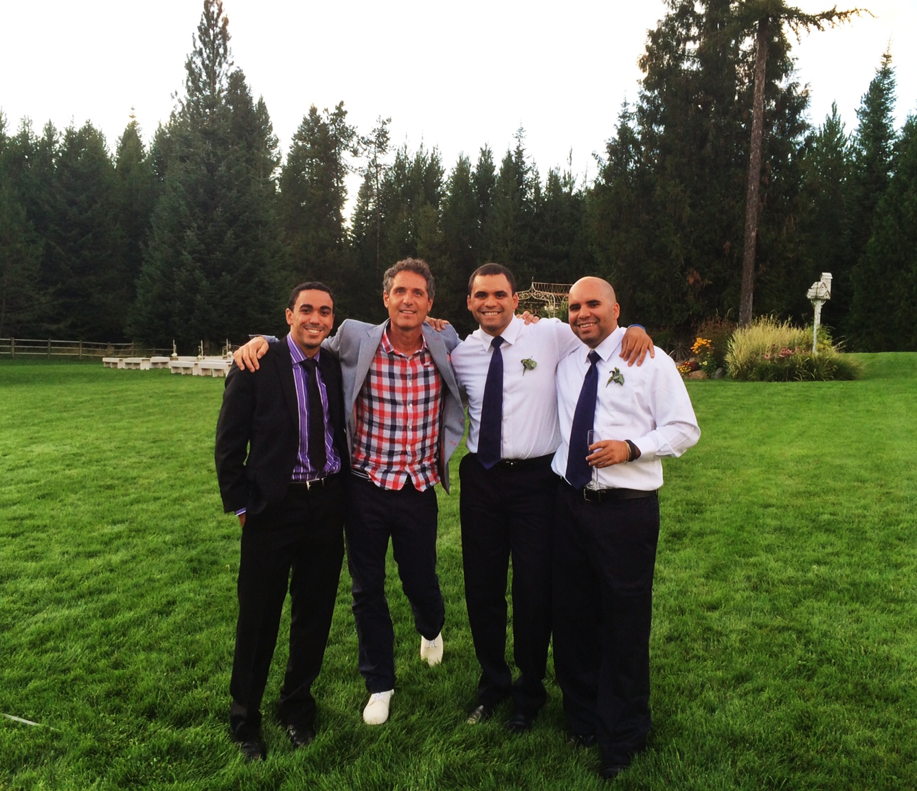 My brothers and Uncle at one of our friends Weddings