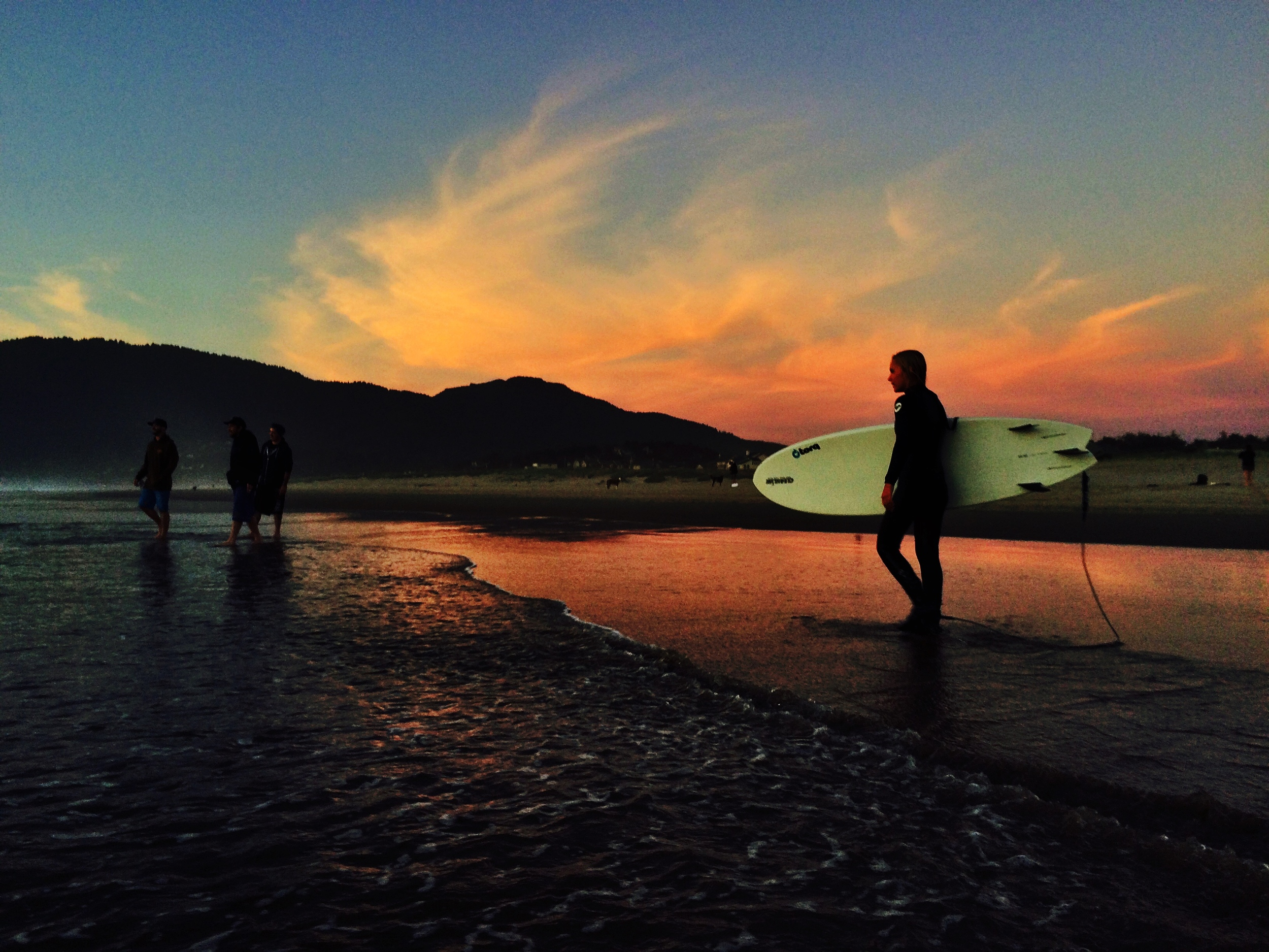 Sunset surf session