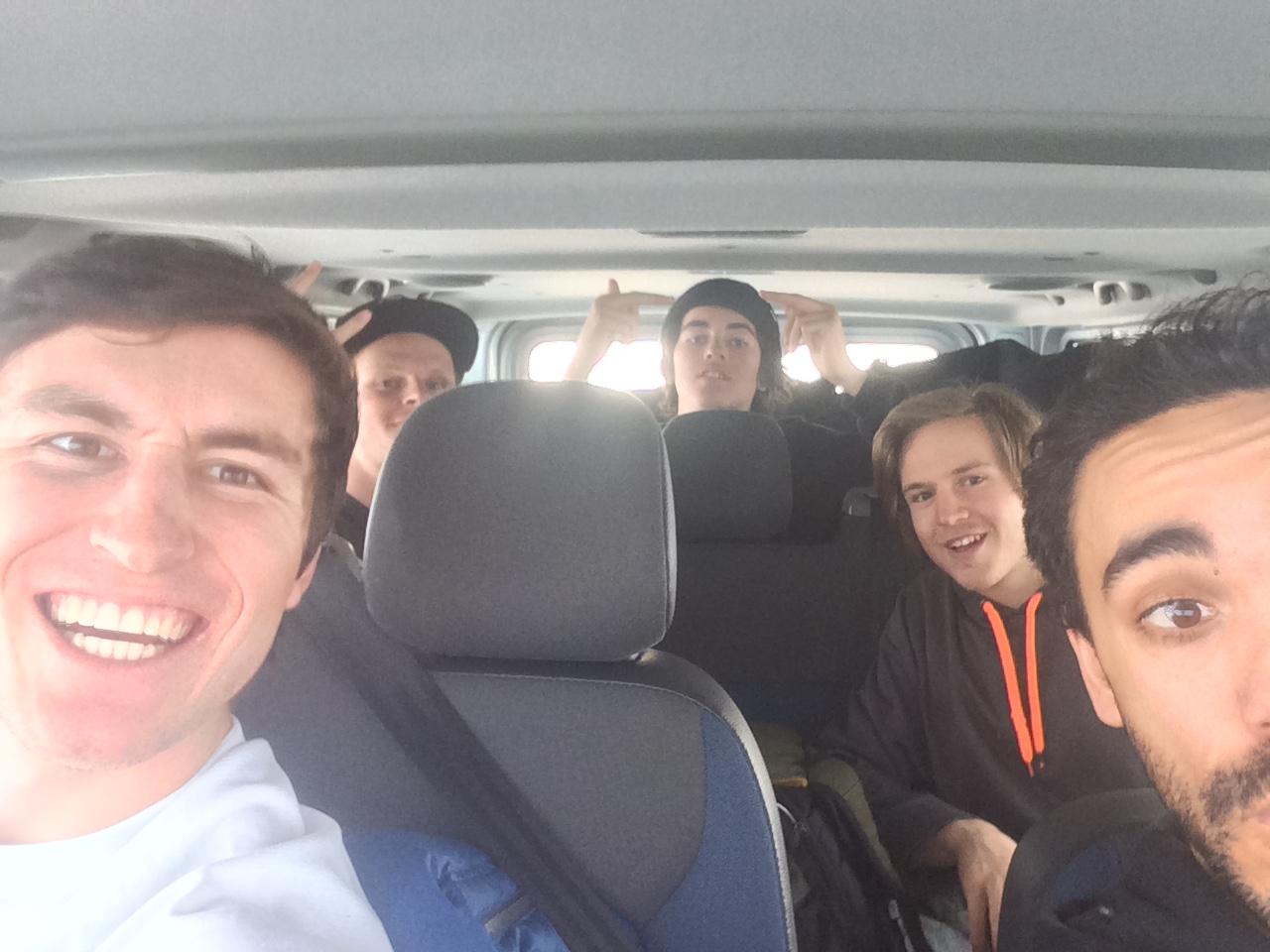 Road trip with Robby, Freddy, Finn, and Eddie