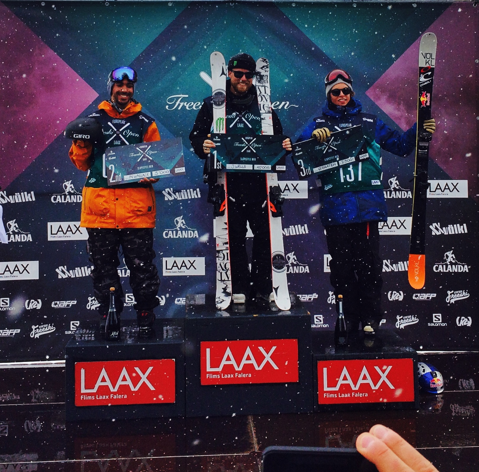 Jossi, Oystein, and I on the podium.