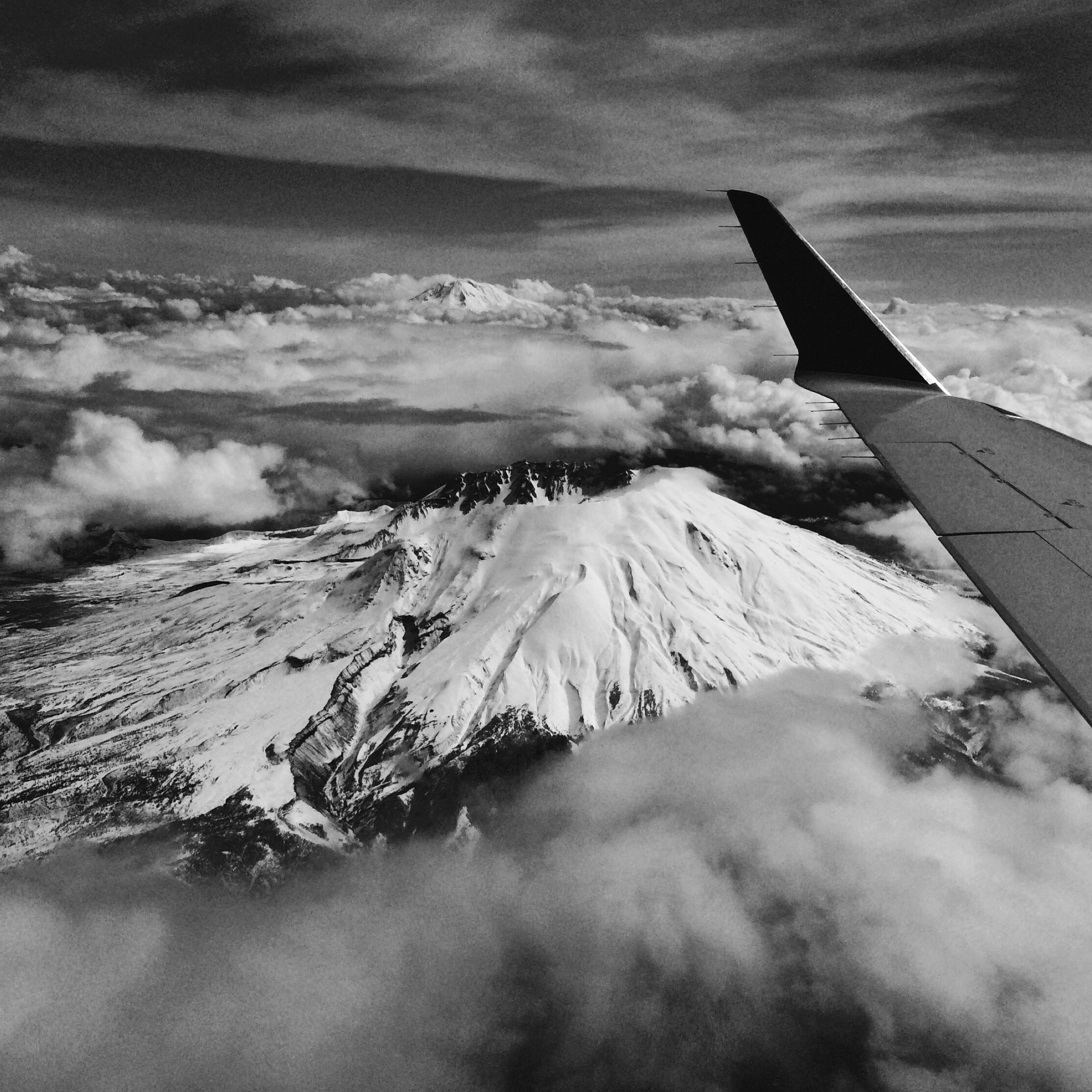 Mt.Adams on my final flight to Portland