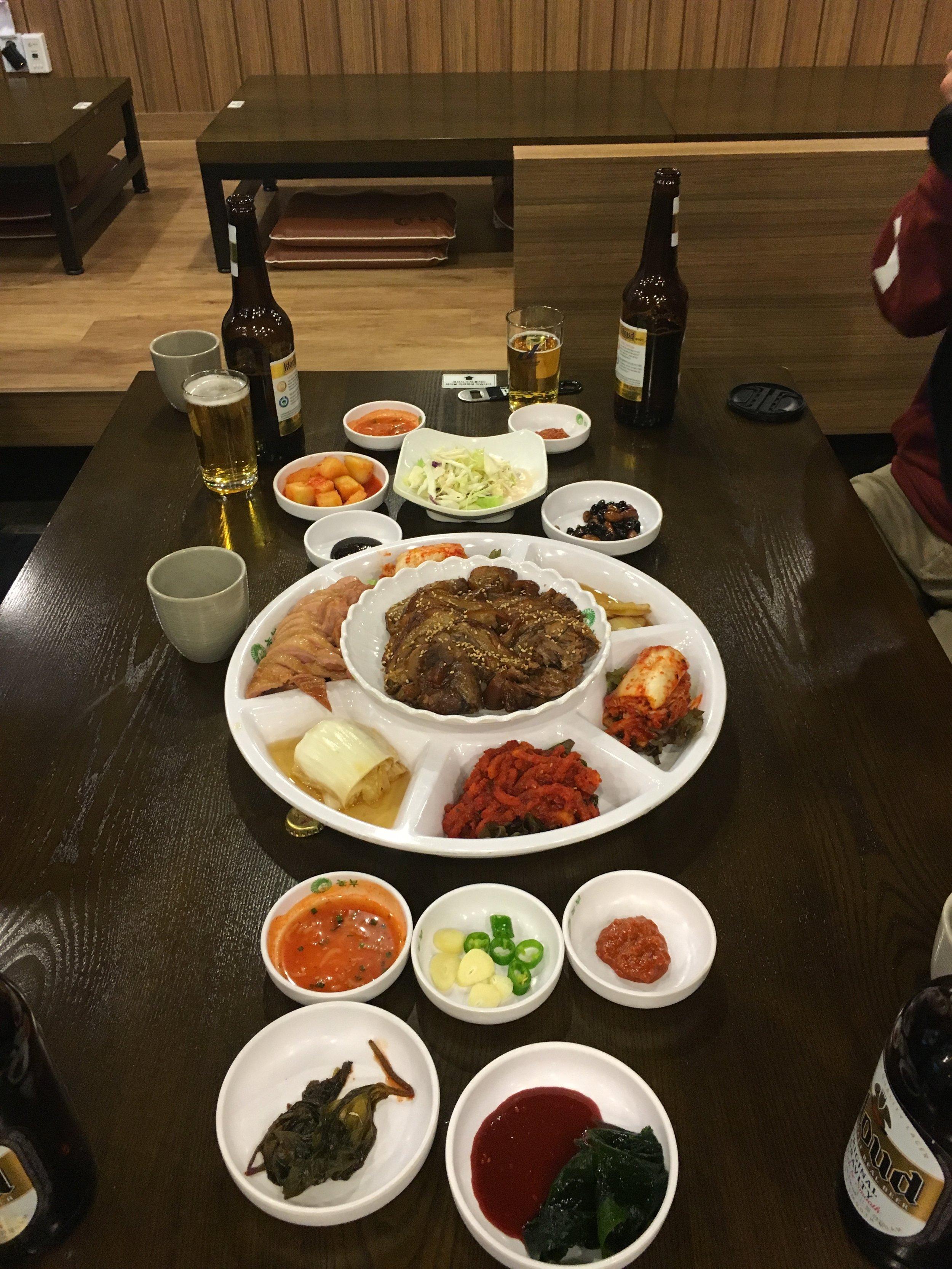 Duck, Pork, and plenty of Kimchi!