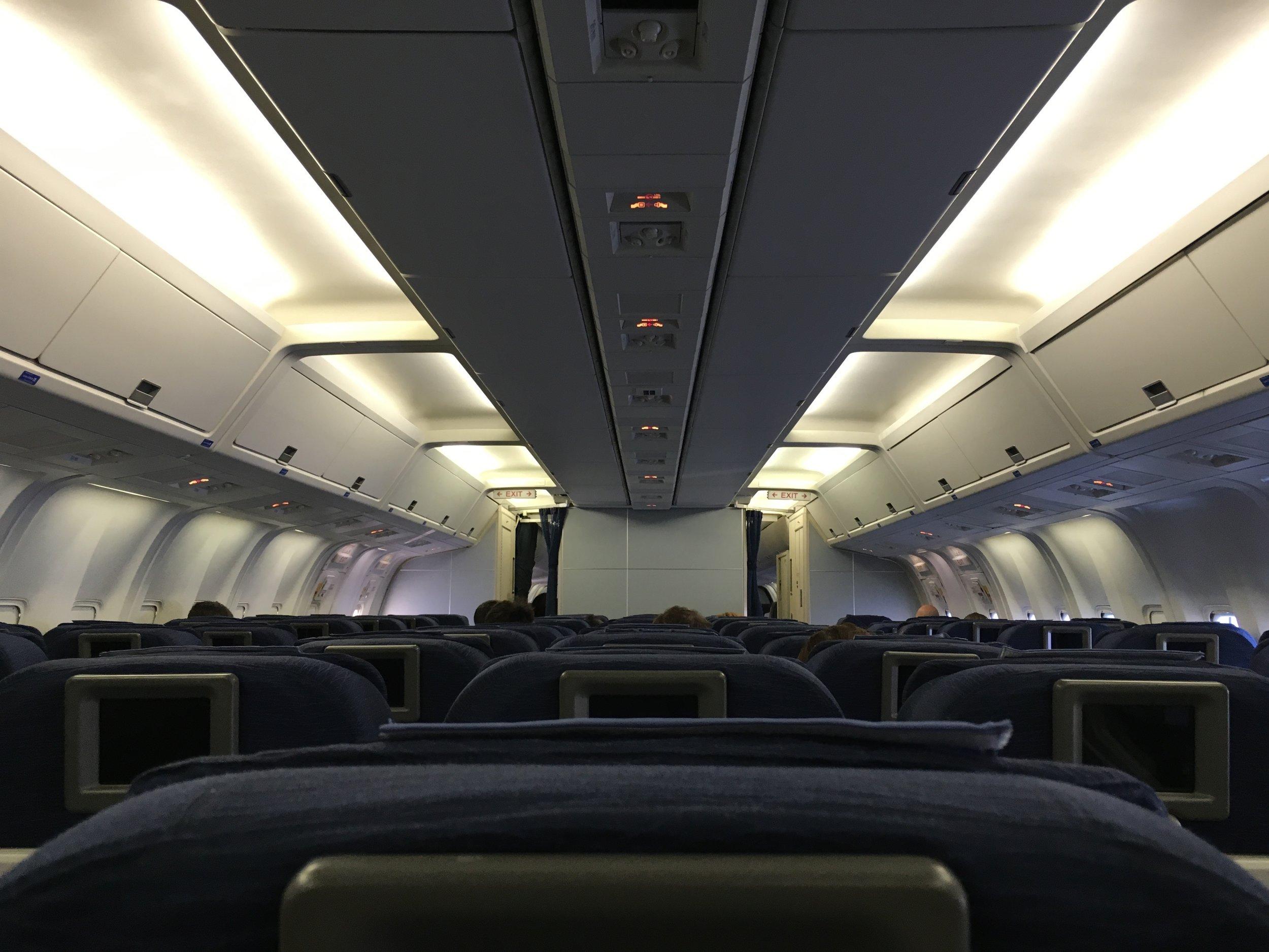 Thank God for long empty flights.