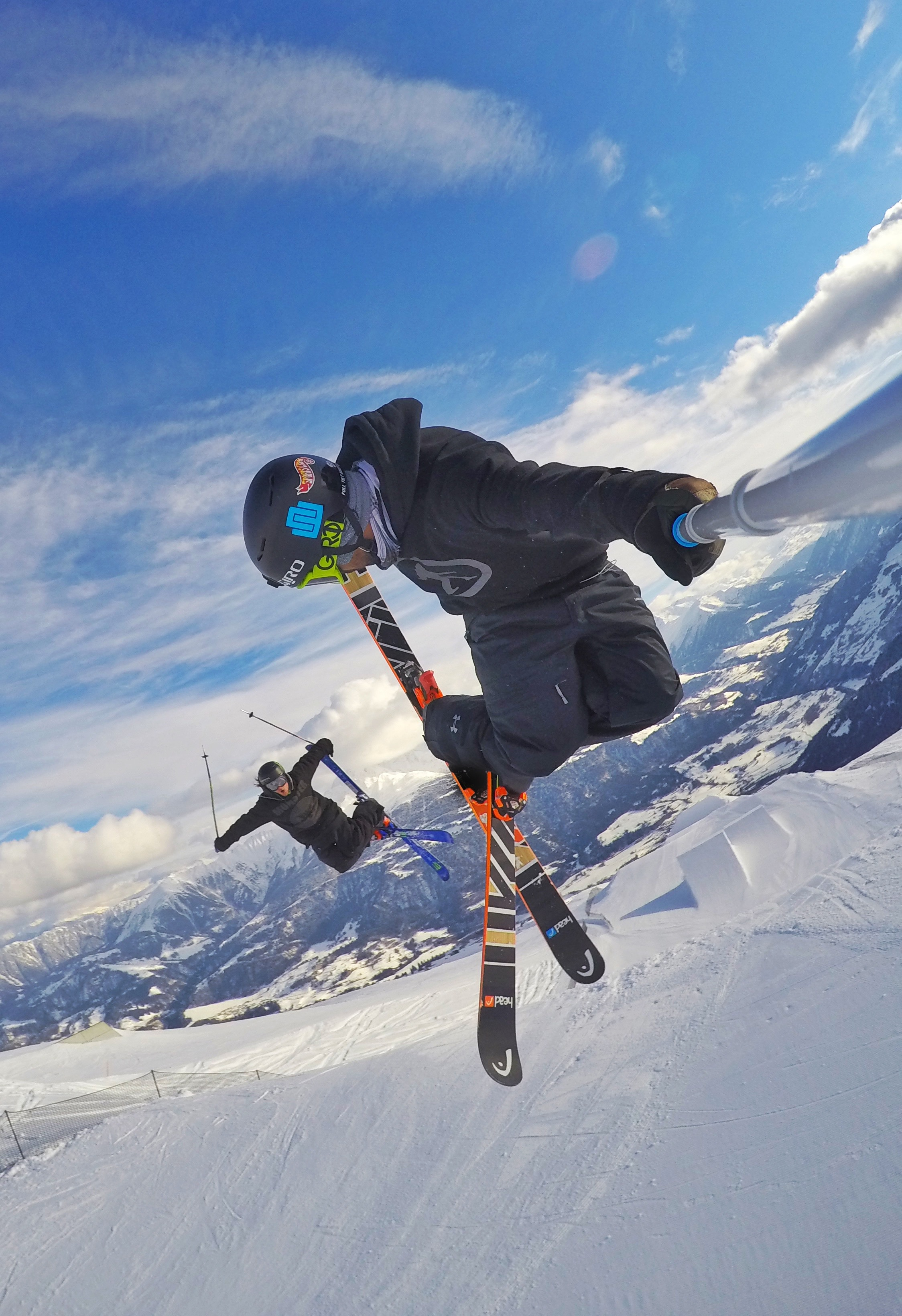 Jumping with Woodsy in Laax! Easily one of the best places to ride in the World.