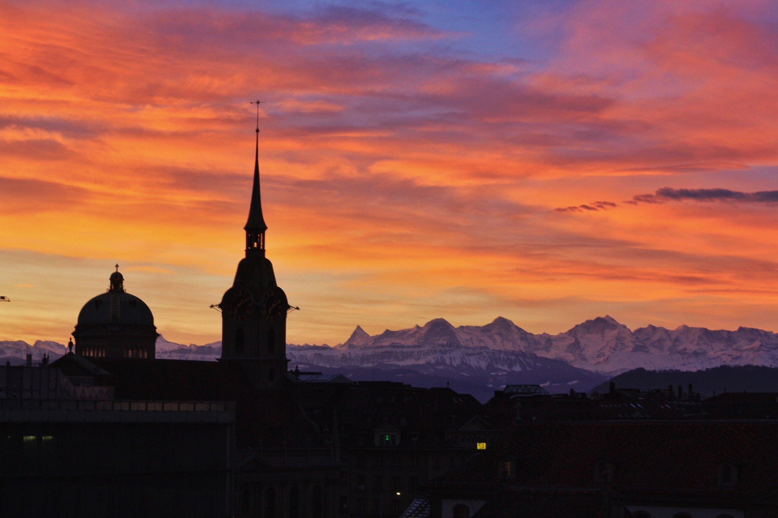 Easter Sunrise in Bern, Switzerland