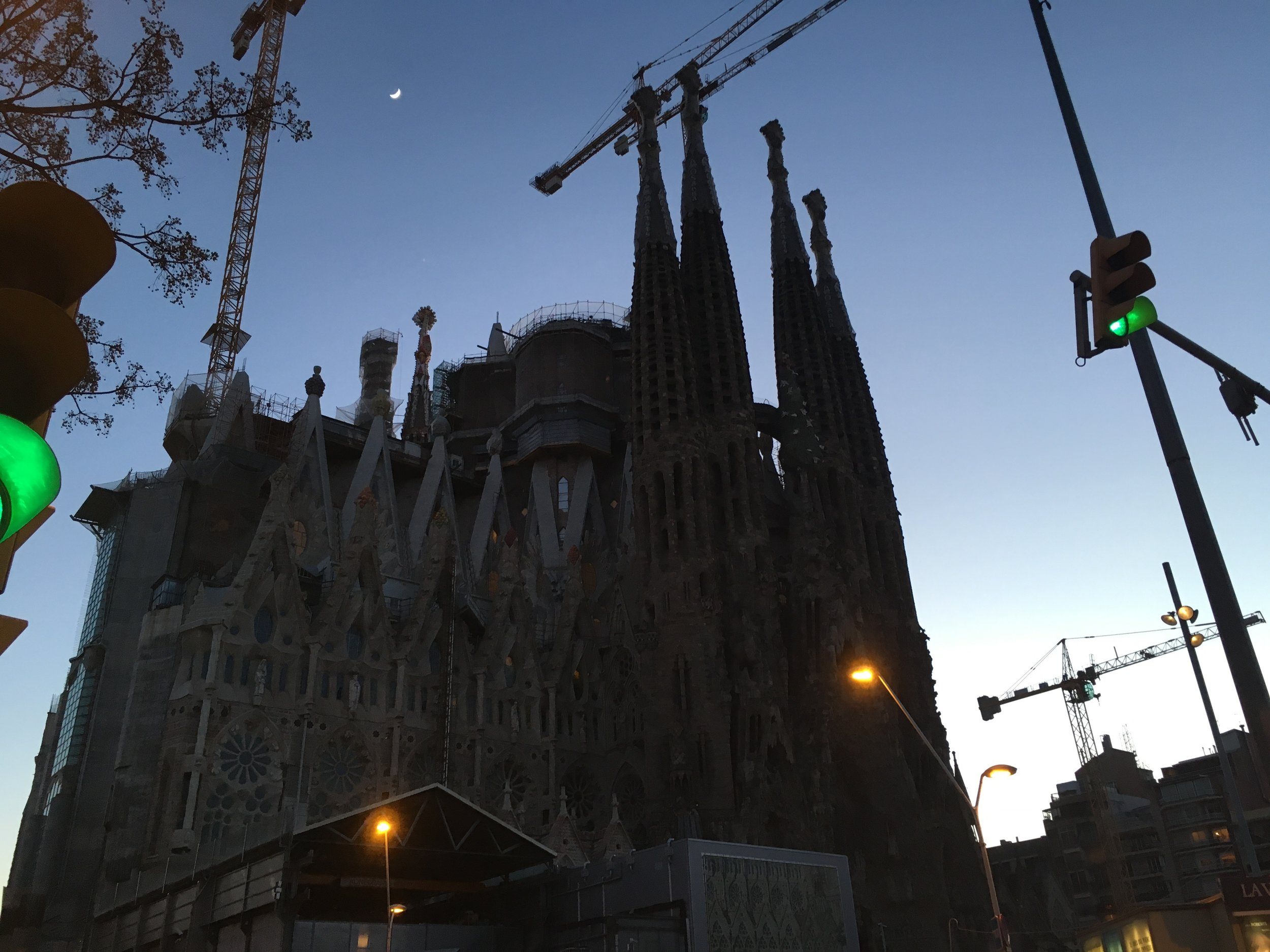 Took this shot around 5am of the Sagrada Familia before heading to the airport.