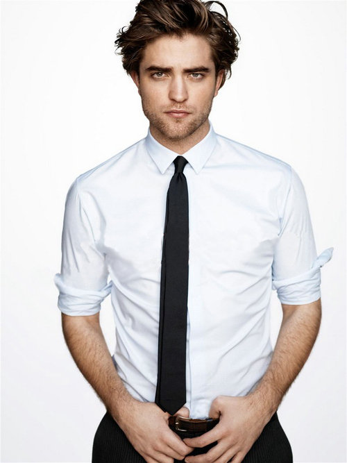 Gravata-Slim_Skinny-Tie_Fitted Shirt__Robert-Pattinson