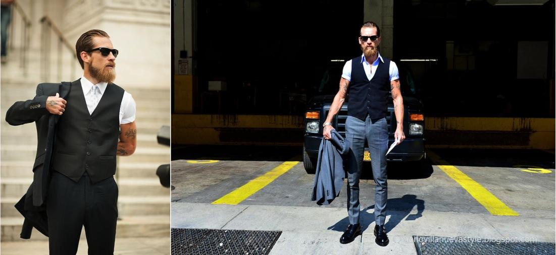 esse é Justin O'Shea,cara cheio de estilo, que trabalha na indústria da moda e por issosabe como quebrar as regras. se não está nesse nível ou trabalha em uma indústria criativa, não invente moda.