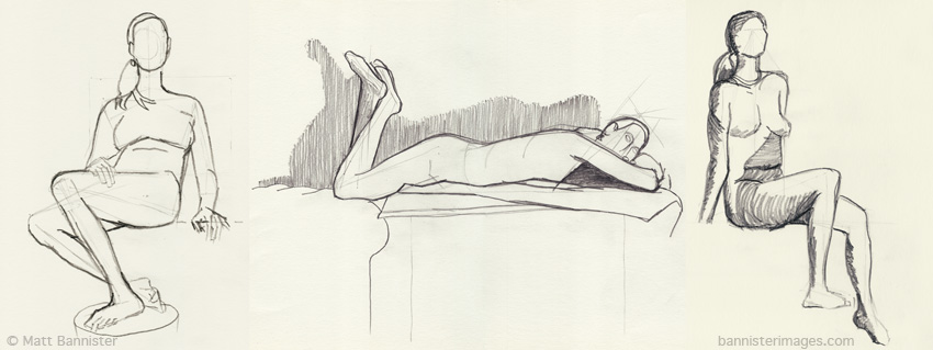 Life drawings. 1st July 2013