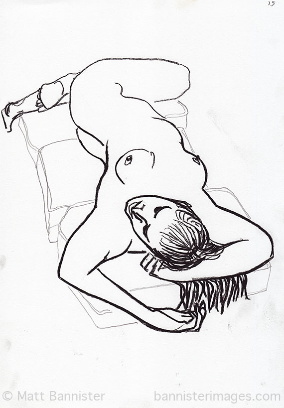 Drawing of a female nude