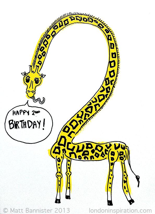 Yellow giraffe illustration