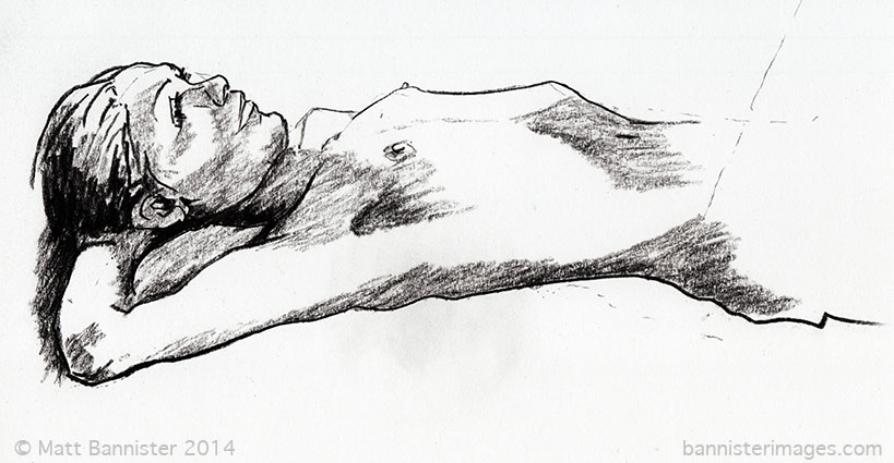 drawing of a nude woman