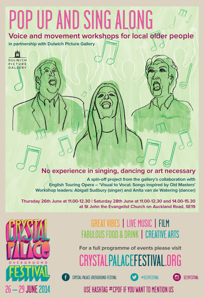 poster promoting singing events