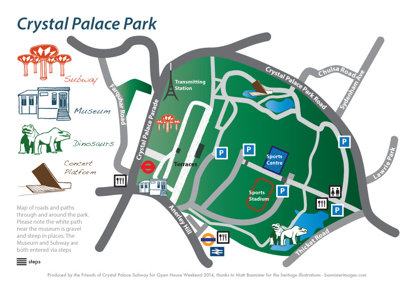 map of Crystal Palace
