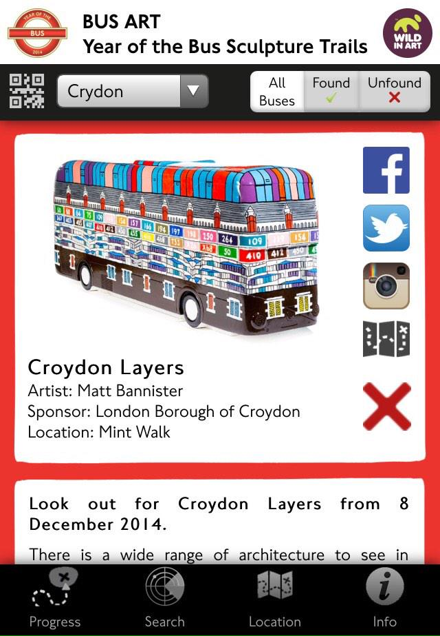 Bus App screen shot