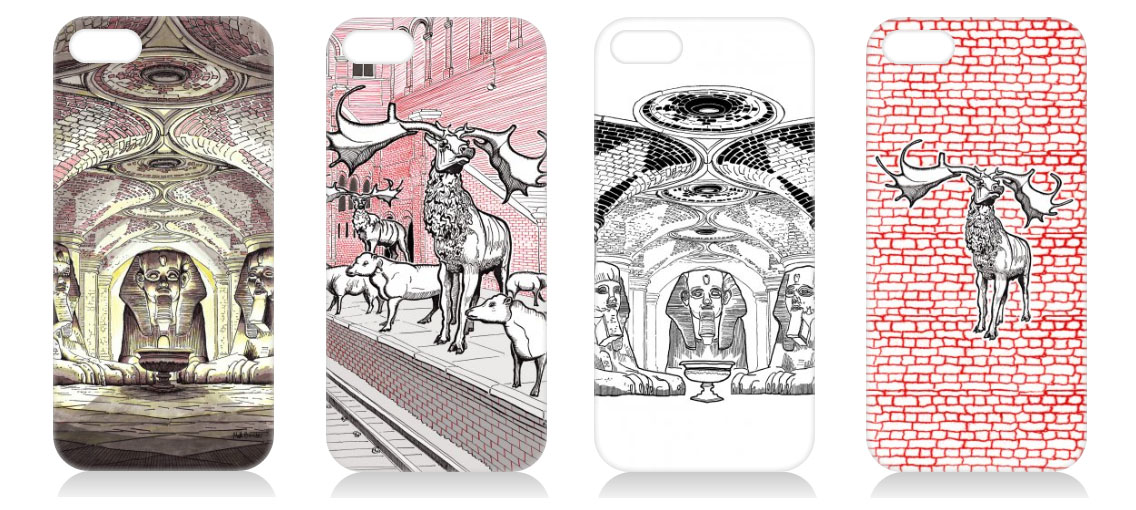 illustrated phone covers