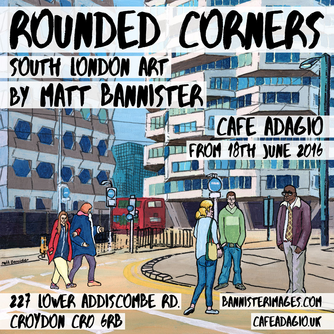 Matt Bannister's South London art exhibition poster