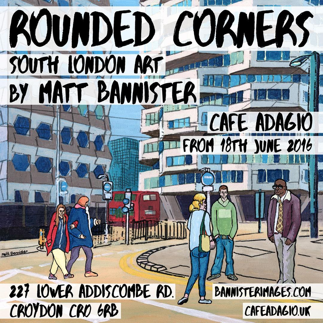 Matt Bannister's South London art exhibition poster