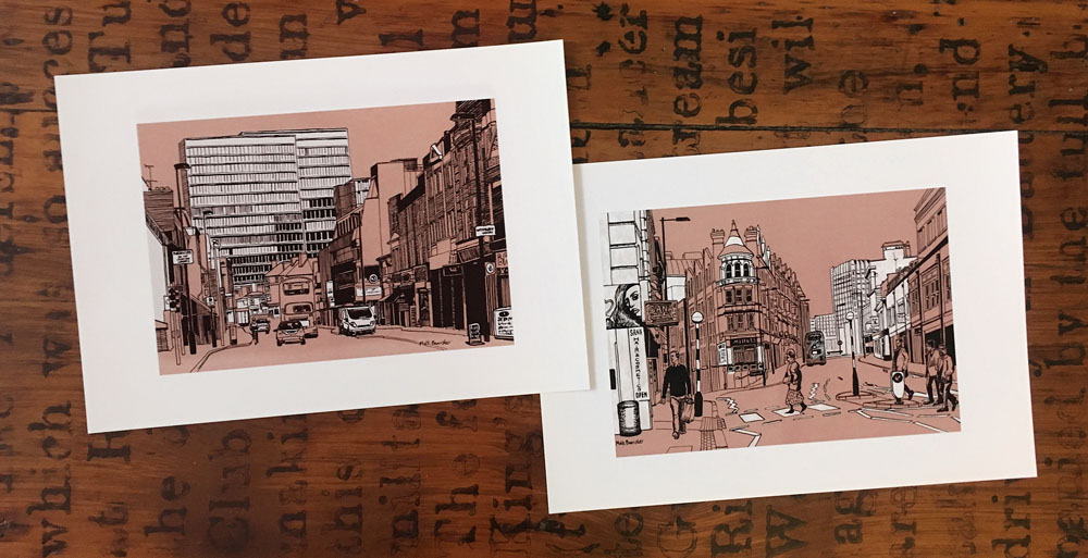art prints of Croydon skyline