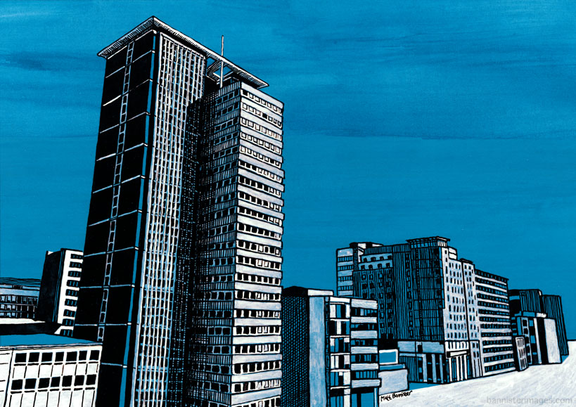 Illustration of Croydon skyline
