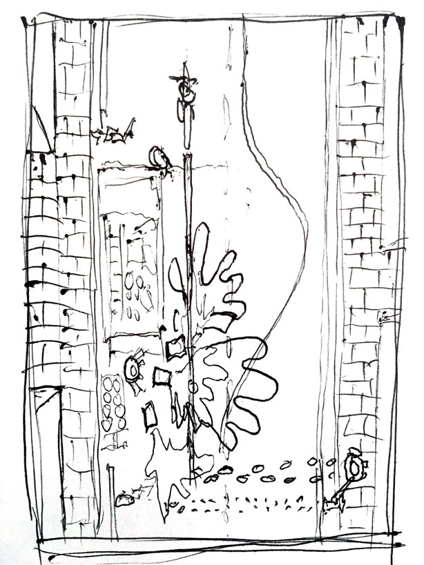 Original pen sketch