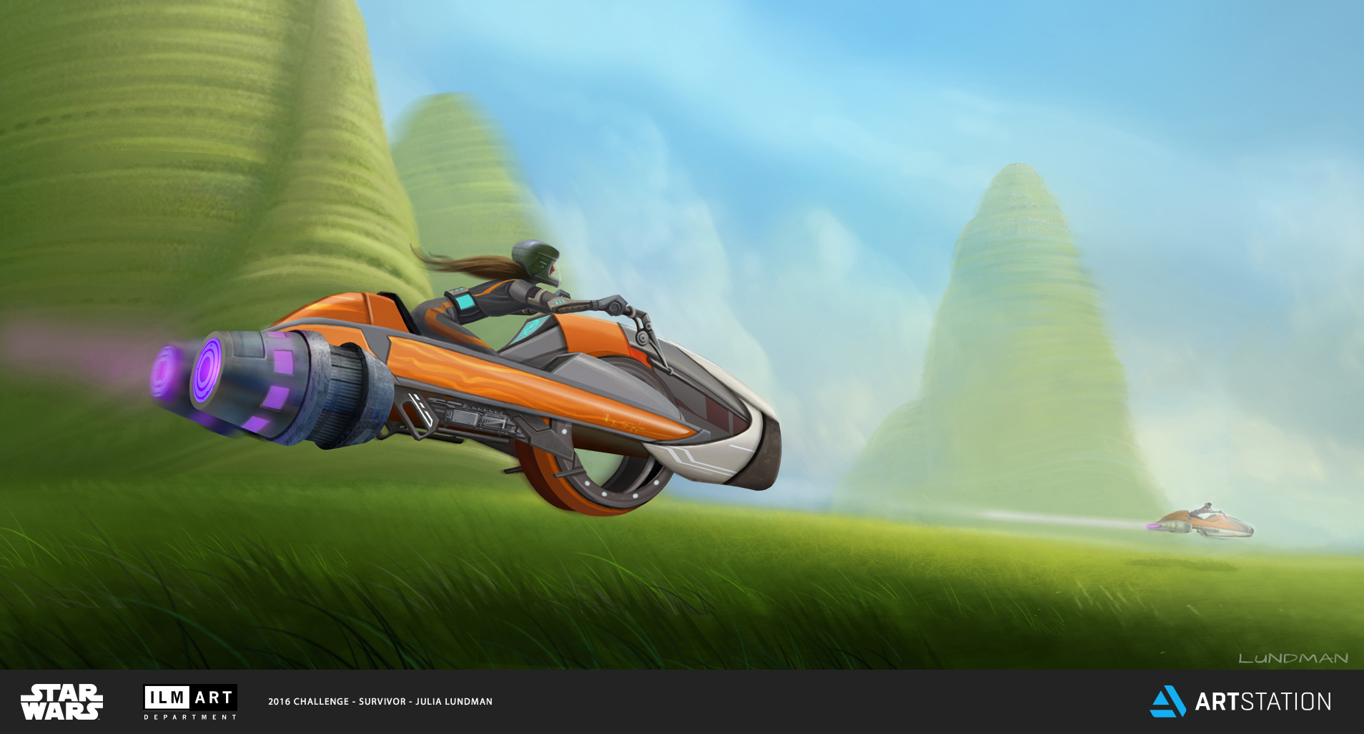 KEYFRAME 4: TEENAGED LEIA ORGANA WAS OFTEN SEEN RACING THROUGH THE PETRIFIED KILLIK MOUNDS ON THE GRASS PLANES ON ALDERAAN. SHE SHOWED UNUSUAL MECHANICAL ENGINEERING ABILITIES AT A YOUNG AGE, SOUPING UP AND CUSTOMIZING THE SPEEDER BIKE HER ADOPTED FATHER, BAIL ORGANA, GAVE TO HER WHEN SHE TURNED TWELVE.