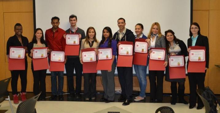 Student Presenters at the 2013 ePortfolio Student Showcase at LaGuardia Community College.(Photo: ePortfolio at LaGuardia Community College).