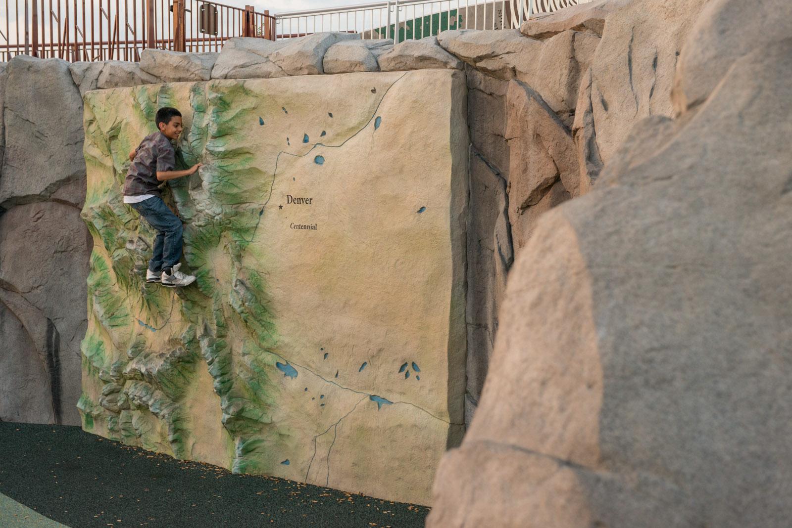 Map climbing wall
