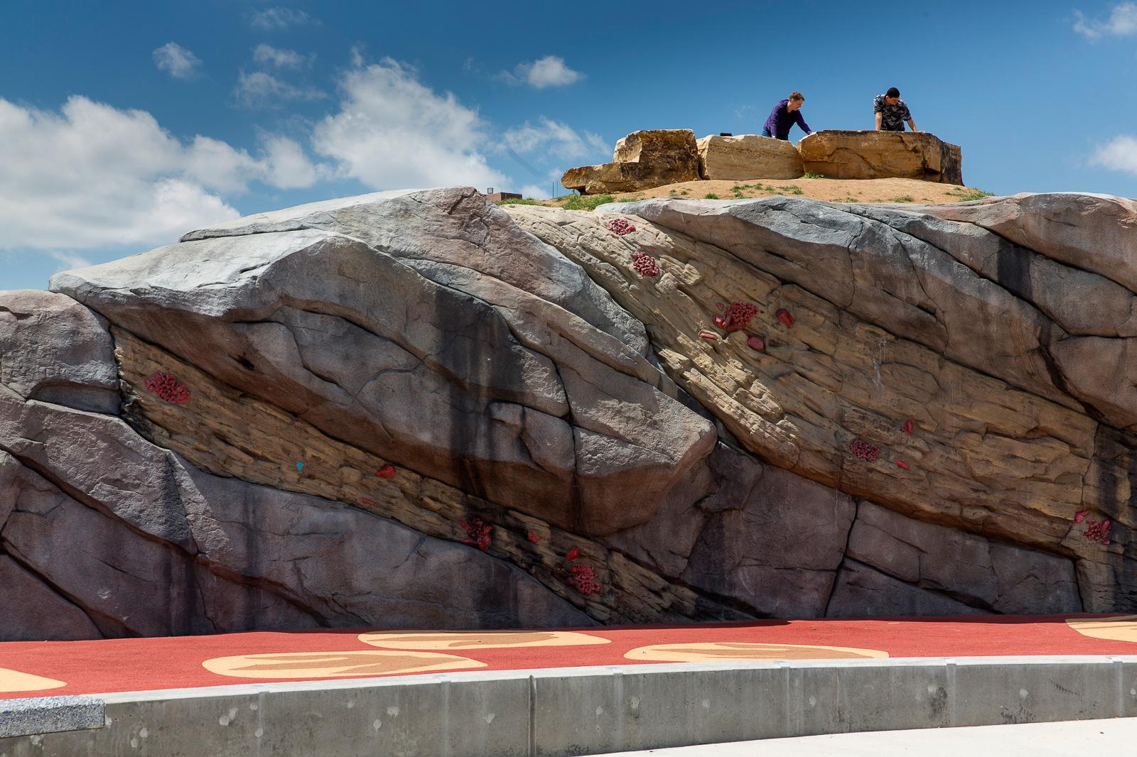 Colorado playground climbing wall
