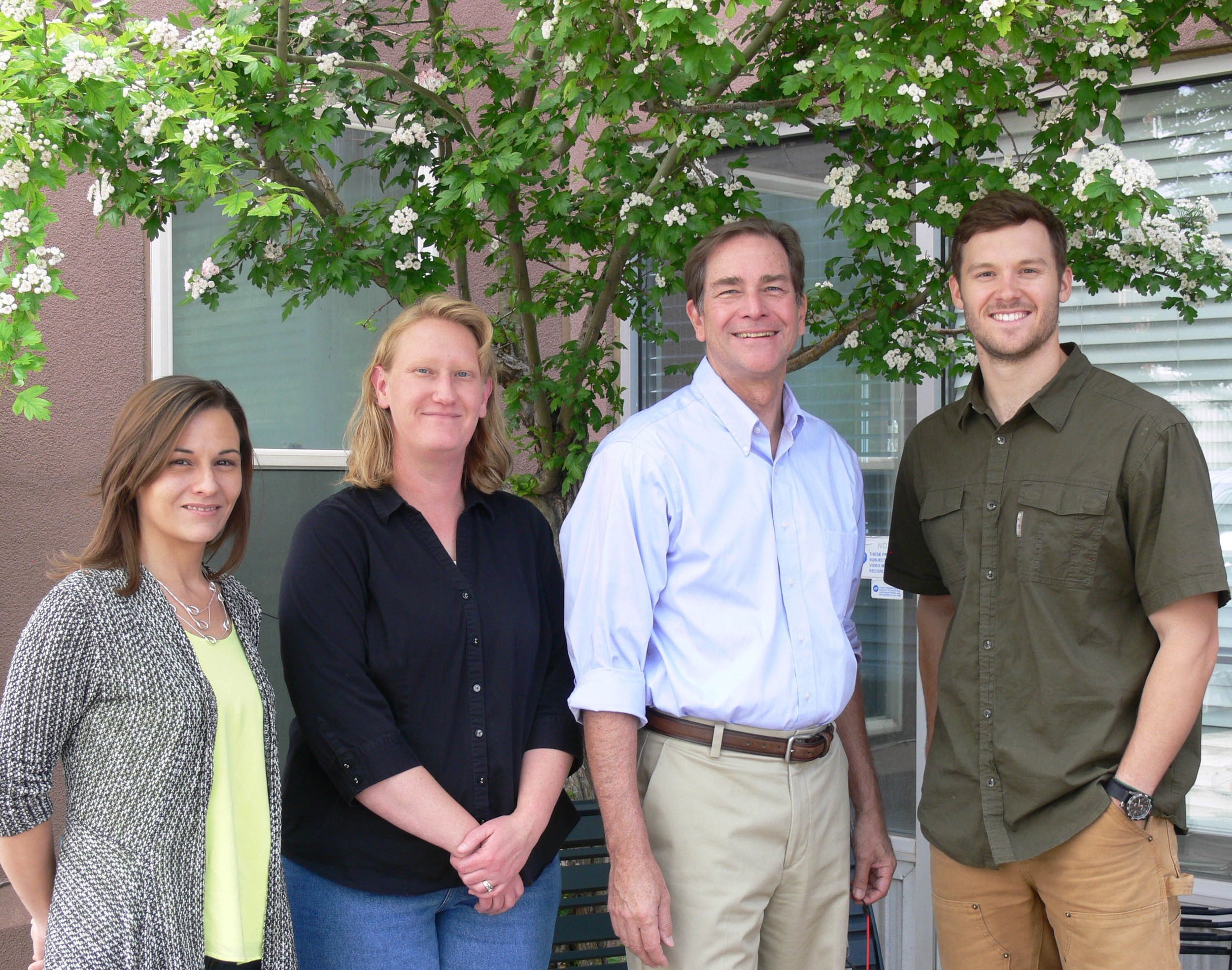From left to right, Amber Hernandez, Jenny Crehore, Roger Burkart and Benjamin Simms.