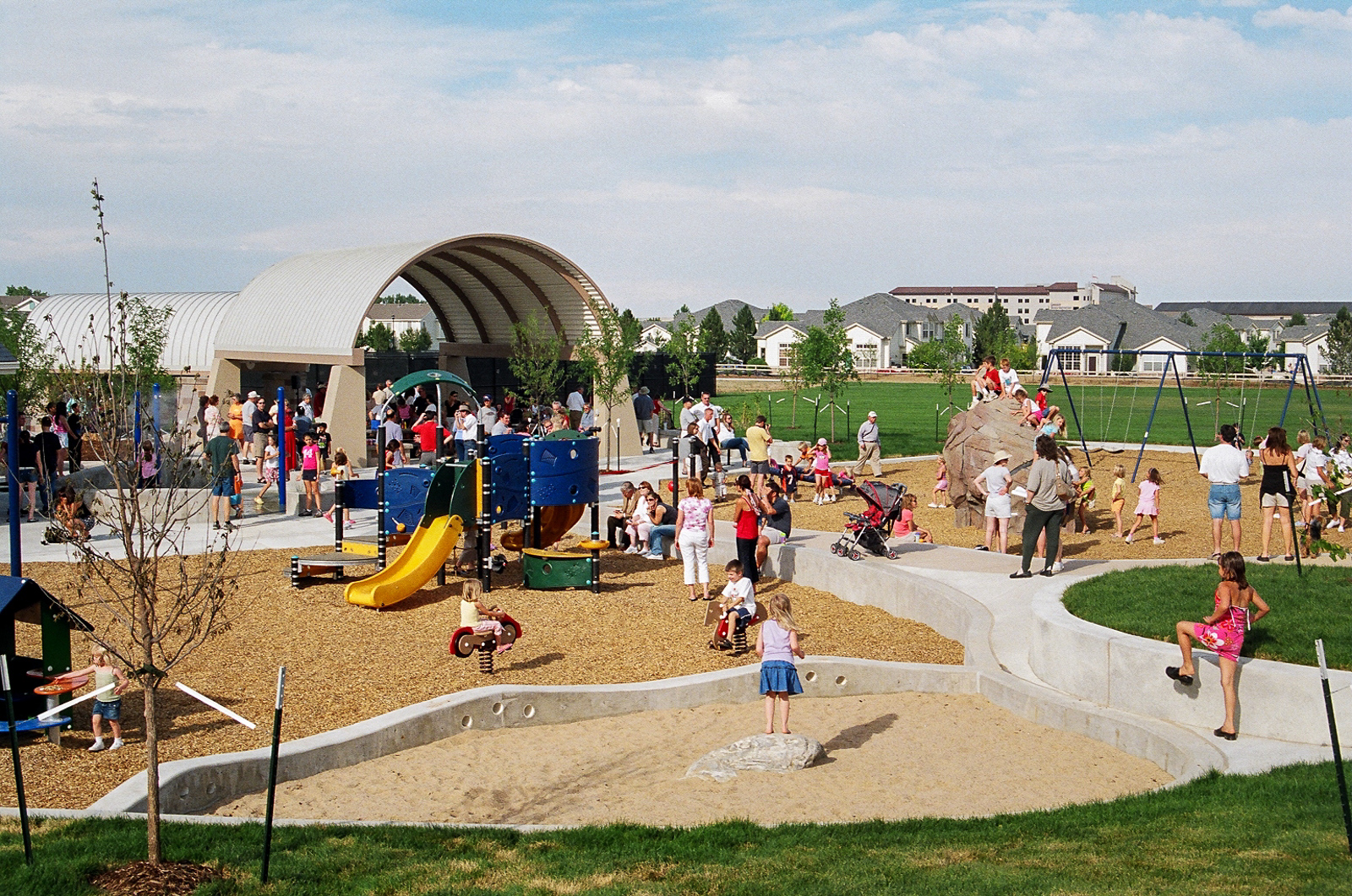 A successful example of a local playground at Whitetail Park here in Lafayette