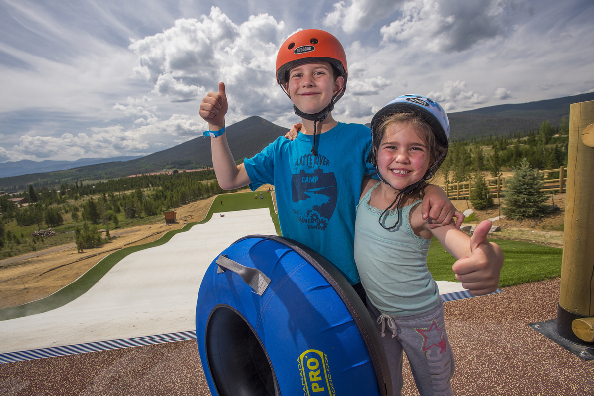 Design Concepts helped design the summer tubing hill at Snow Mountain Ranch YMCA of the Rockies