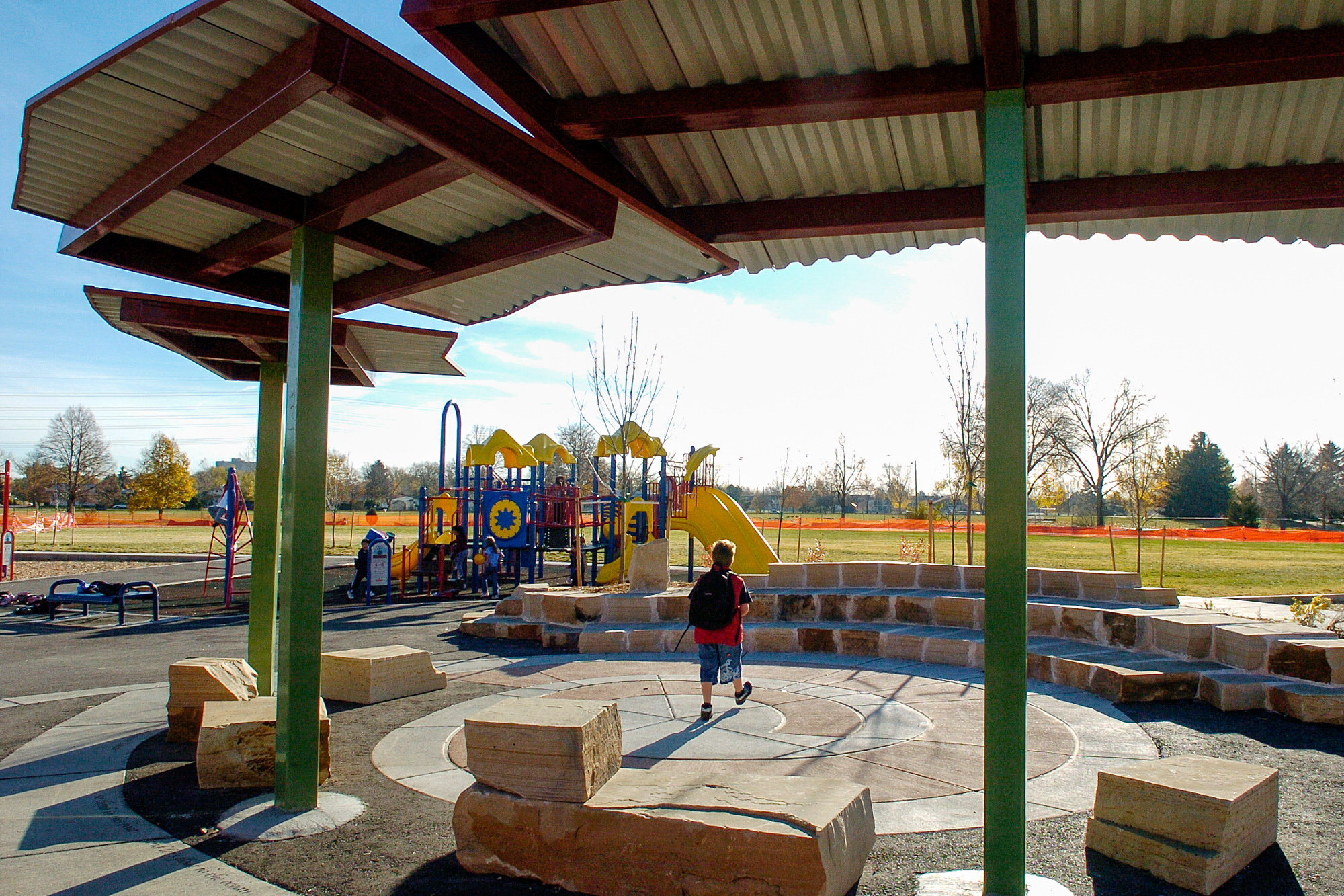 School playground learning landscape shelter outdoor classroom