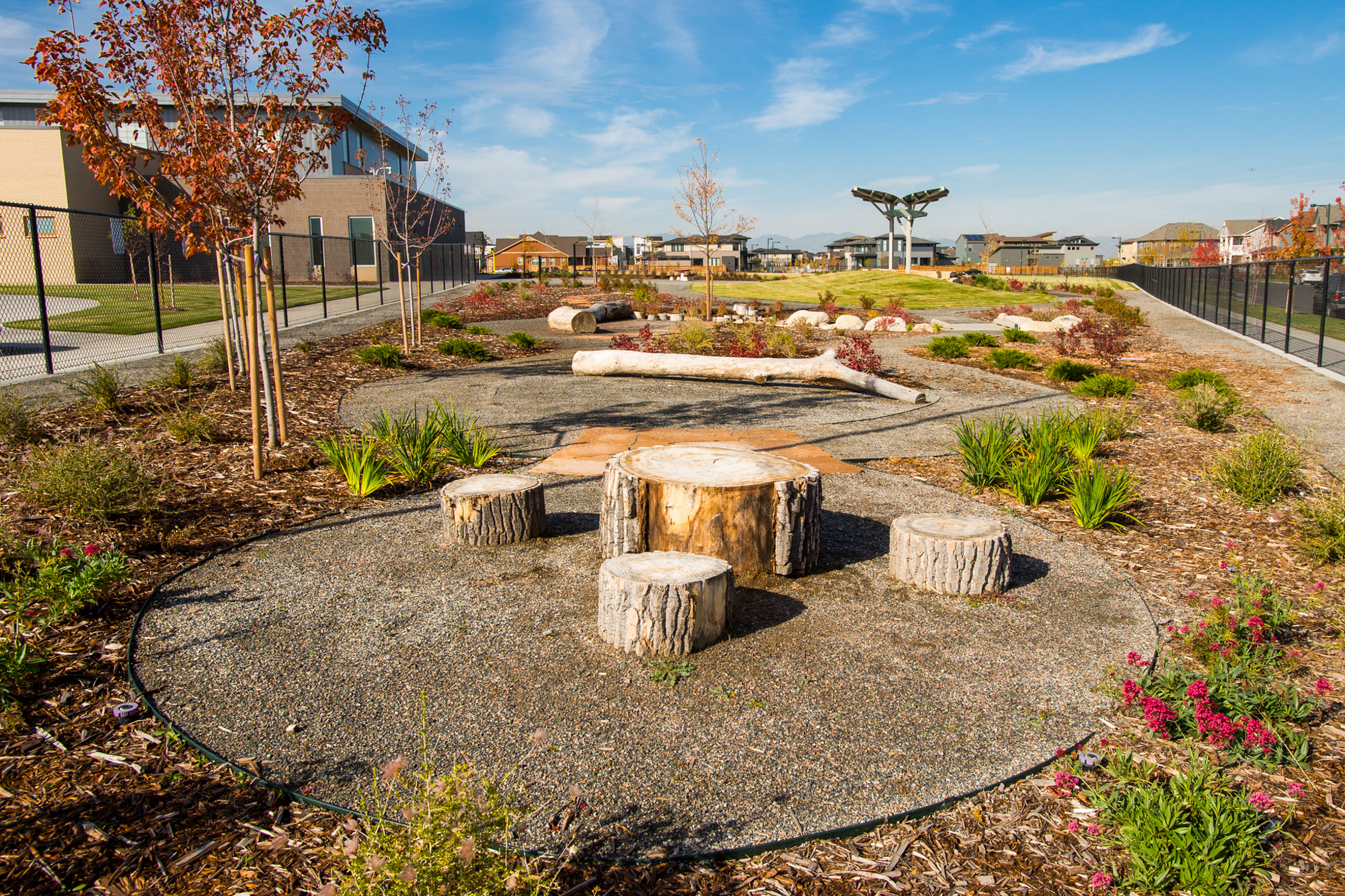 School playground learning landscape nature play