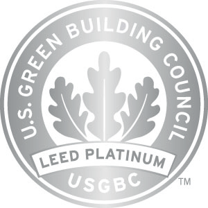 USGBC LEED seal certification Platinum