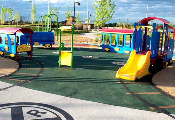 Erie Community Park in Erie, Colorado.