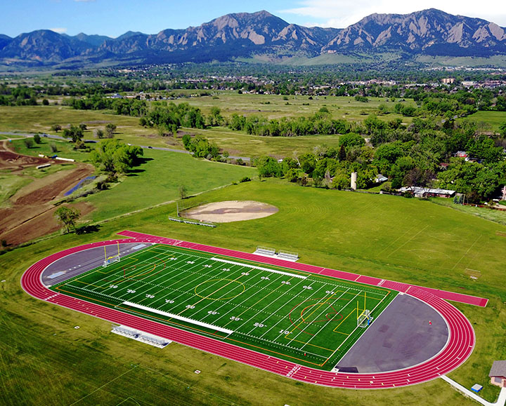 Boulder Valley School District's new synthetic turf football field.
