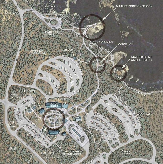 Grand Canyon Transit Center, Visitor Center+Rim Improvements