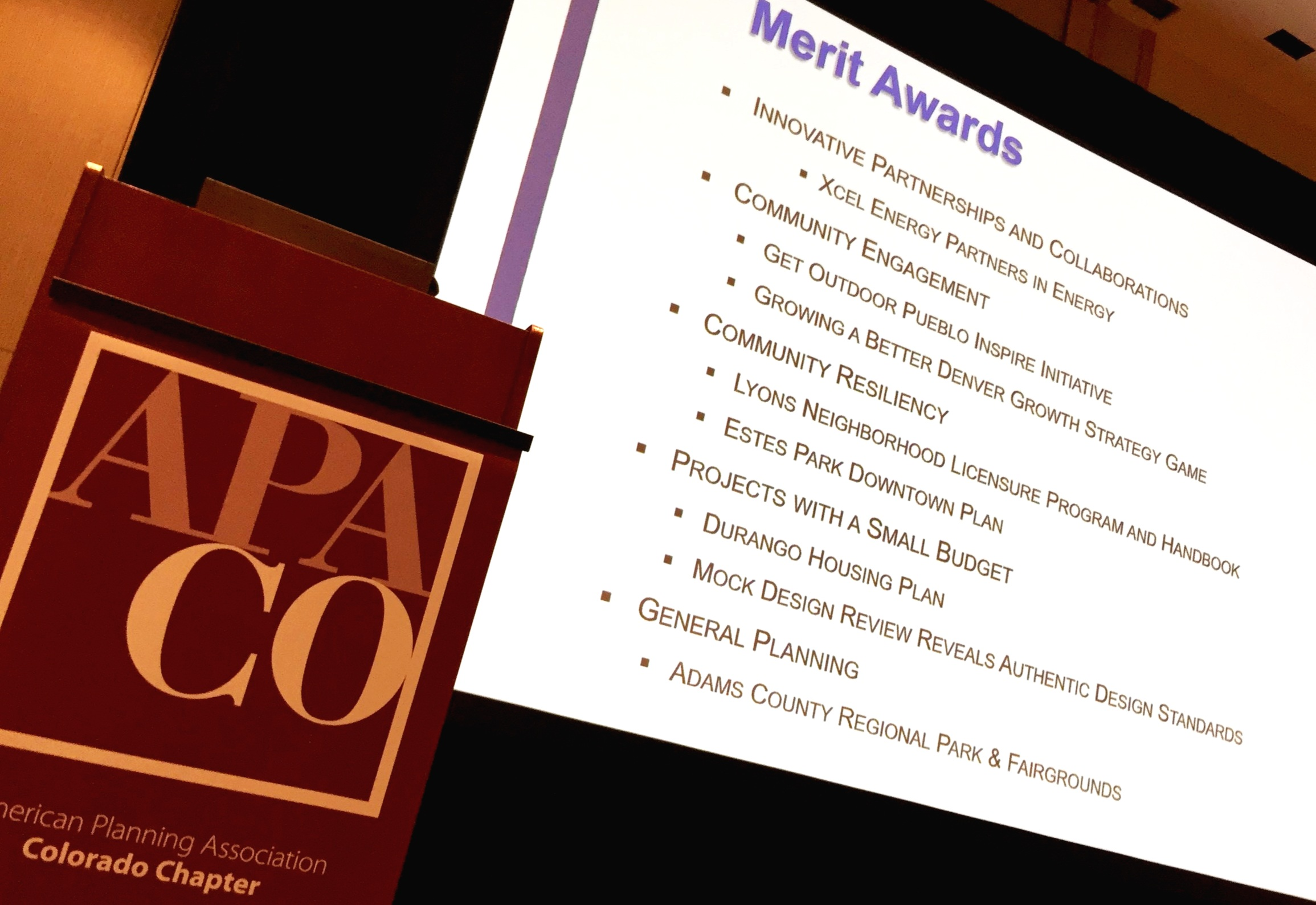 APA Merit Awards showcase programs that help communities recover from shocks stresses, such as floods, fires, mudslides, earthquakes, and tornadoes..