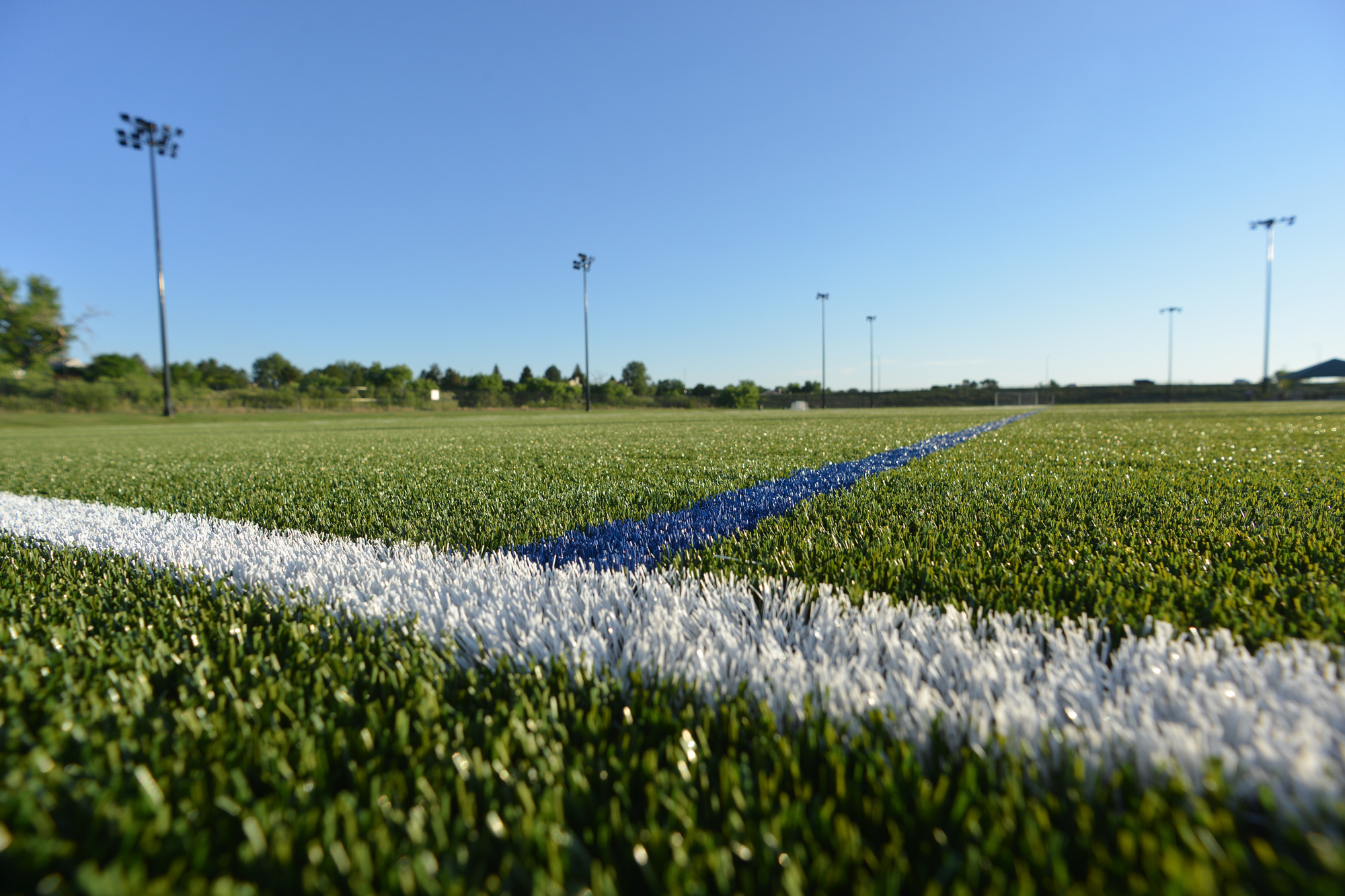 Artificial turf provides a perfectly even playing surface