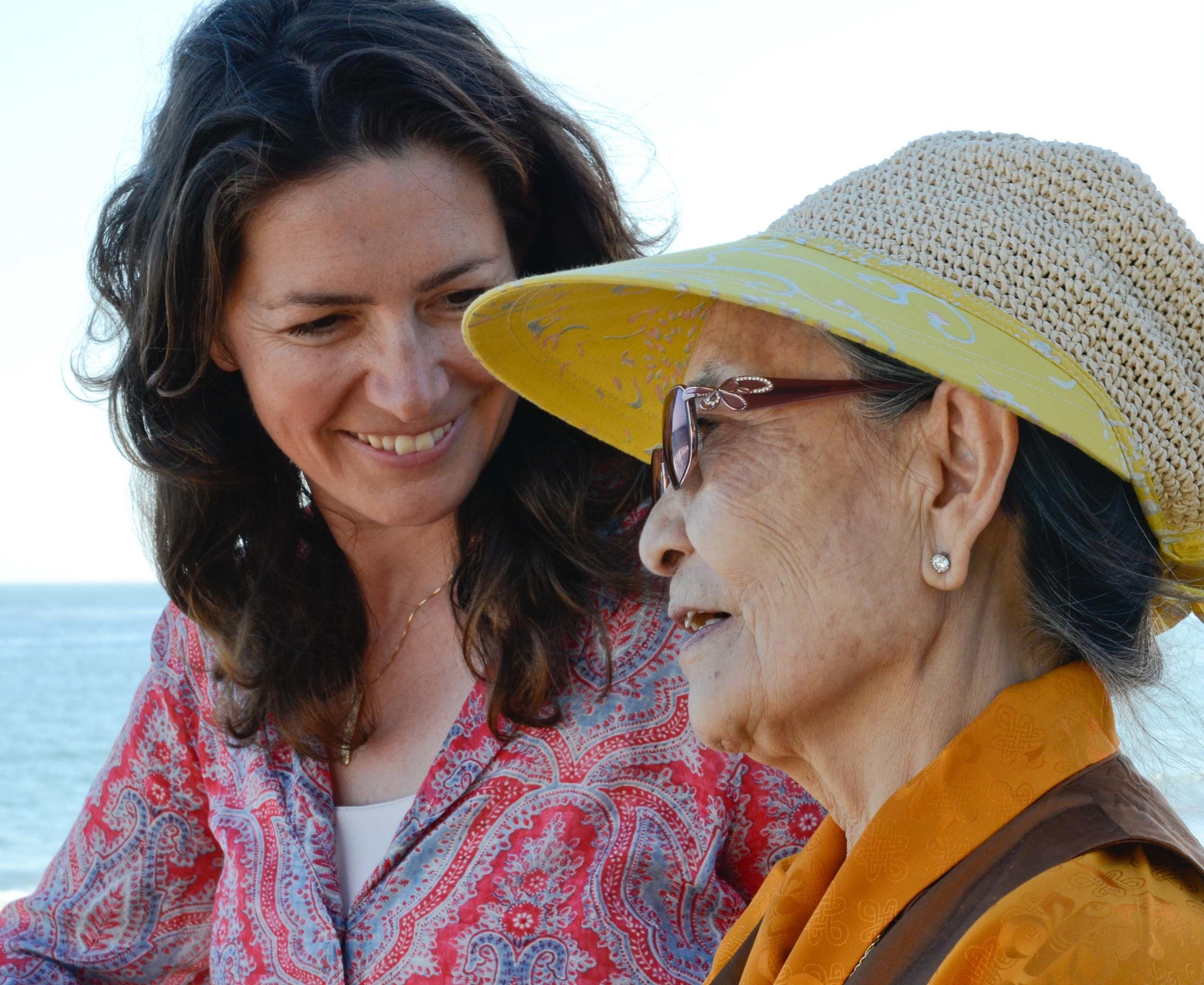 Dagmola Sakya and Michaela Haas in Malibu