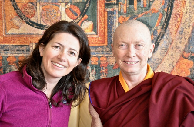 Ven. Karma Lekshe Tsomo with the author