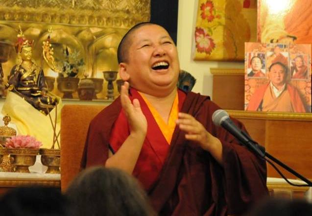 Khandro Rinpoche giving a talk at Rigpa New York, 2013