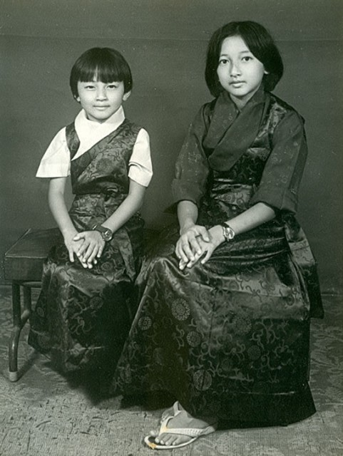 Khandro Rinpoche with her sister Jetsun Dechen Paldron in North India