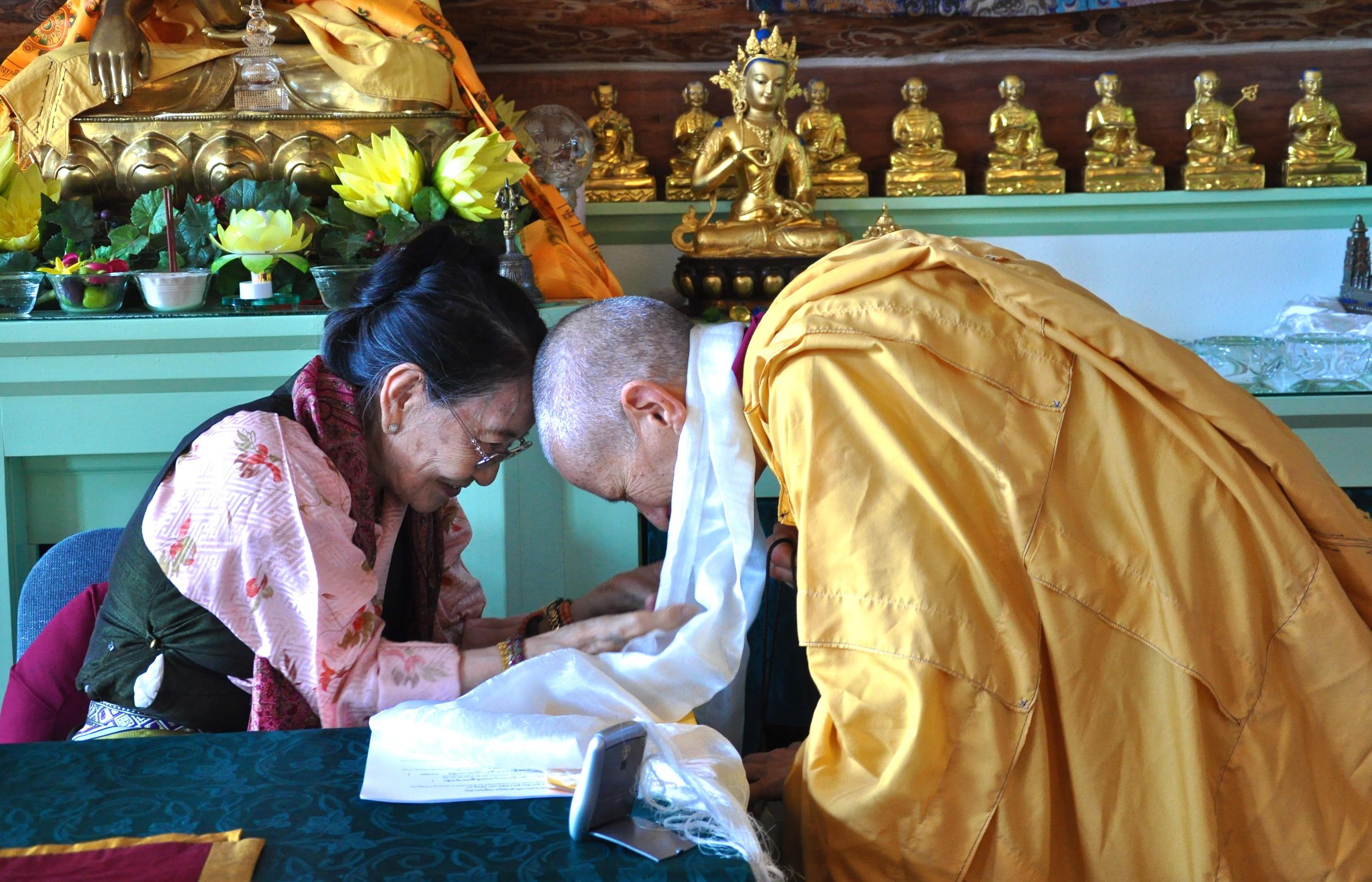 Dagmola Sakya visiting Sravasti Abbey