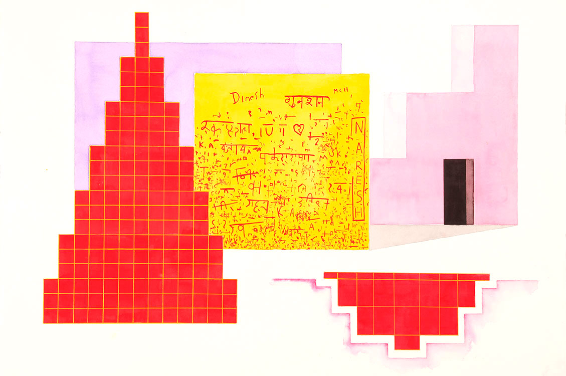'Samode' India Song Series 2011 / Size: 66cm x 88cm (framed) / Mediam: Acrylic & watercolour on paper / Price: $5,500  /   Purchase