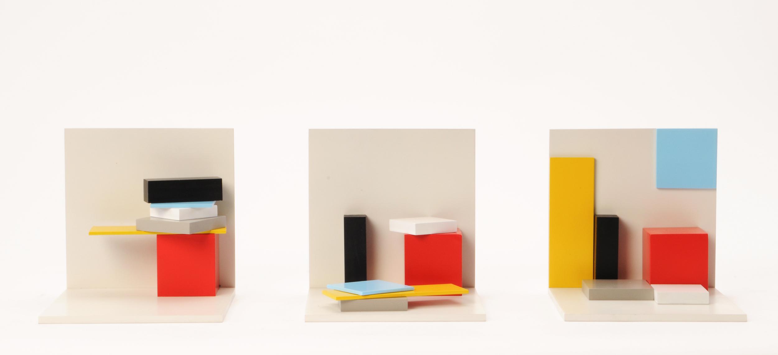 'Studio Day' 2001 (x 3) / Size:15cm x 15cm x 15cm (Total: 50cm variable) Price:$7,500 /  P  urchase